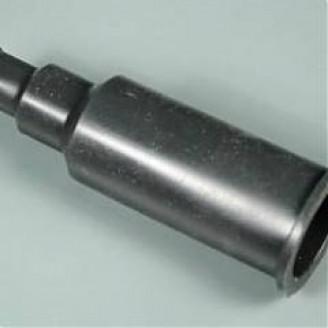 Silikoniniai antgaliai (izoliatoriai) elektrodams 15 mm tiesūs juodi