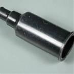 Silikoniniai antgaliai (izoliatoriai) elektrodams 18 mm tiesūs juodi